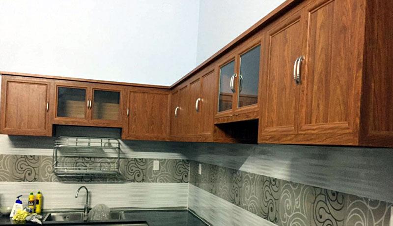 Cơ sở thi công tủ bếp nhôm kính treo tường uy tín tại TP.HCM
