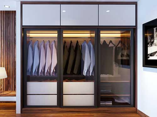Lắp đặt tủ quần áo âm tường bằng nhôm đẹp theo yêu cầu