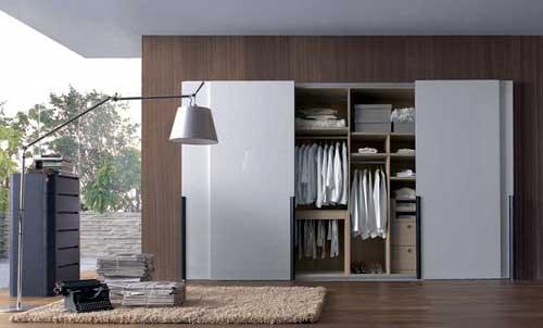 Thi công tủ nhôm kính âm tường đựng quần áo theo yêu cầu tại TP.HCM