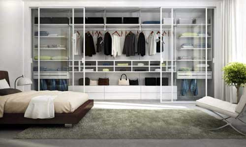 Làm tủ quần áo âm tường nhôm kính cửa lùa đẹp tại TP.HCM