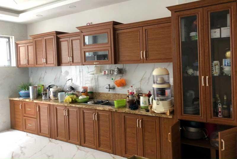 Mẫu tủ bếp nhôm omega cao cấp cho nhà bếp hiện đại