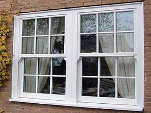 Mẫu cửa nhôm kính 2 cánh chia ô đẹp cho cửa sổ