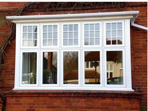 Mẫu cửa sổ nhôm Xingfa trắng sứ 5 cánh