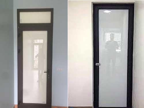Mẫu cửa nhôm kính quận 9 thông phòng nhà vệ sinh