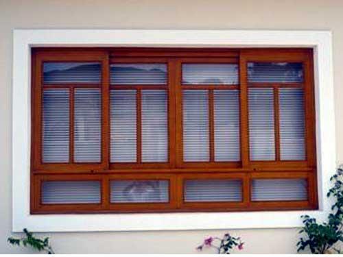 Cửa sổ nhôm Xingfa giả gỗ chia ô đẹp mê ly