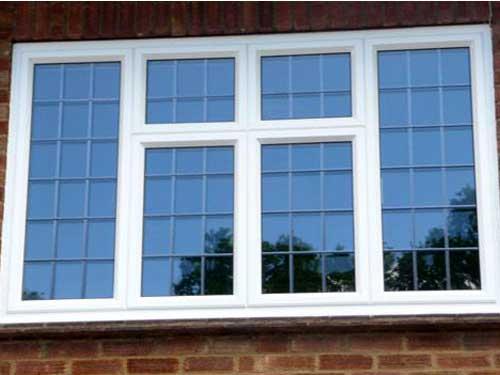 Cửa sổ nhôm Xingfa kính xanh đen đẹp