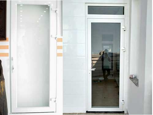 Mẫu cửa nhôm Xingfa màu trắng 1 cánh kiểu mở gạt