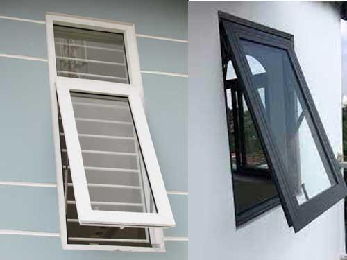 Mẫu cửa sổ nhôm Xingfa 1 cánh mở hất đẹp