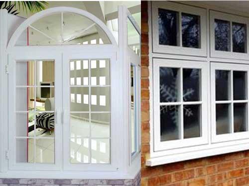 Mẫu cửa sổ nhôm Xingfa màu trắng kiểu chia ô