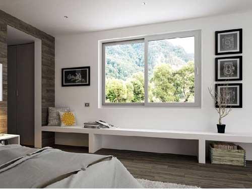 Cửa sổ nhôm phòng ngủ mở lùa