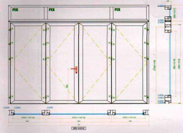 Kích thước cửa nhôm Xingfa cho cửa 4 cánh