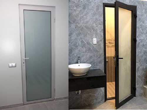 Mẫu cửa nhôm Xingfa 1 cánh đẹp cho phòng toilet