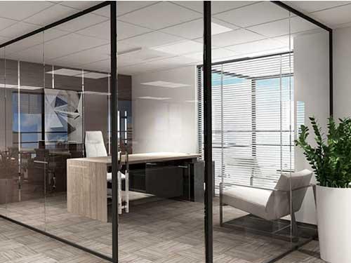 Vách vách nhôm kính Xingfa đẹp cho văn phòng