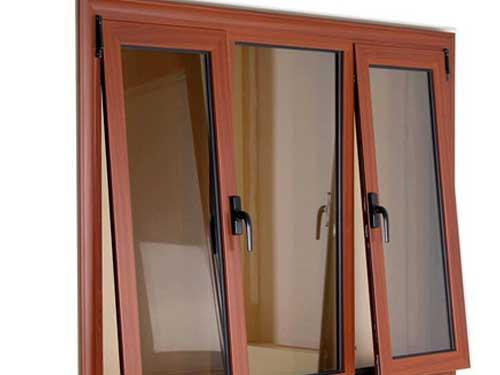 Cửa sổ nhôm vân gỗ đẹp mở hất
