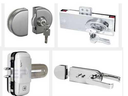 Ổ khóa cửa kính cường lực thông dụng hiện nay