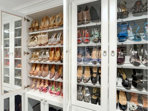Mẫu tủ giày dép nhôm kính đẹp mê ly