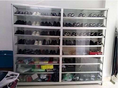 Tủ giày dép nhôm kính đẹp